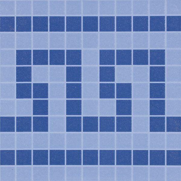 pavimento gres 33x33 y 31.6x31.6 cenefa azul piscina