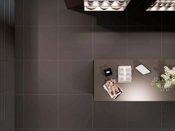azulejo porcelanico rectificado super negro